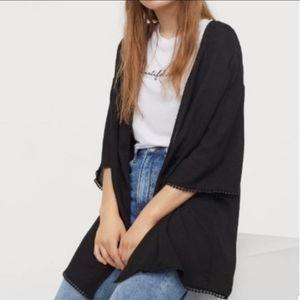 H&M Coachella Black Pom Pom Kimono